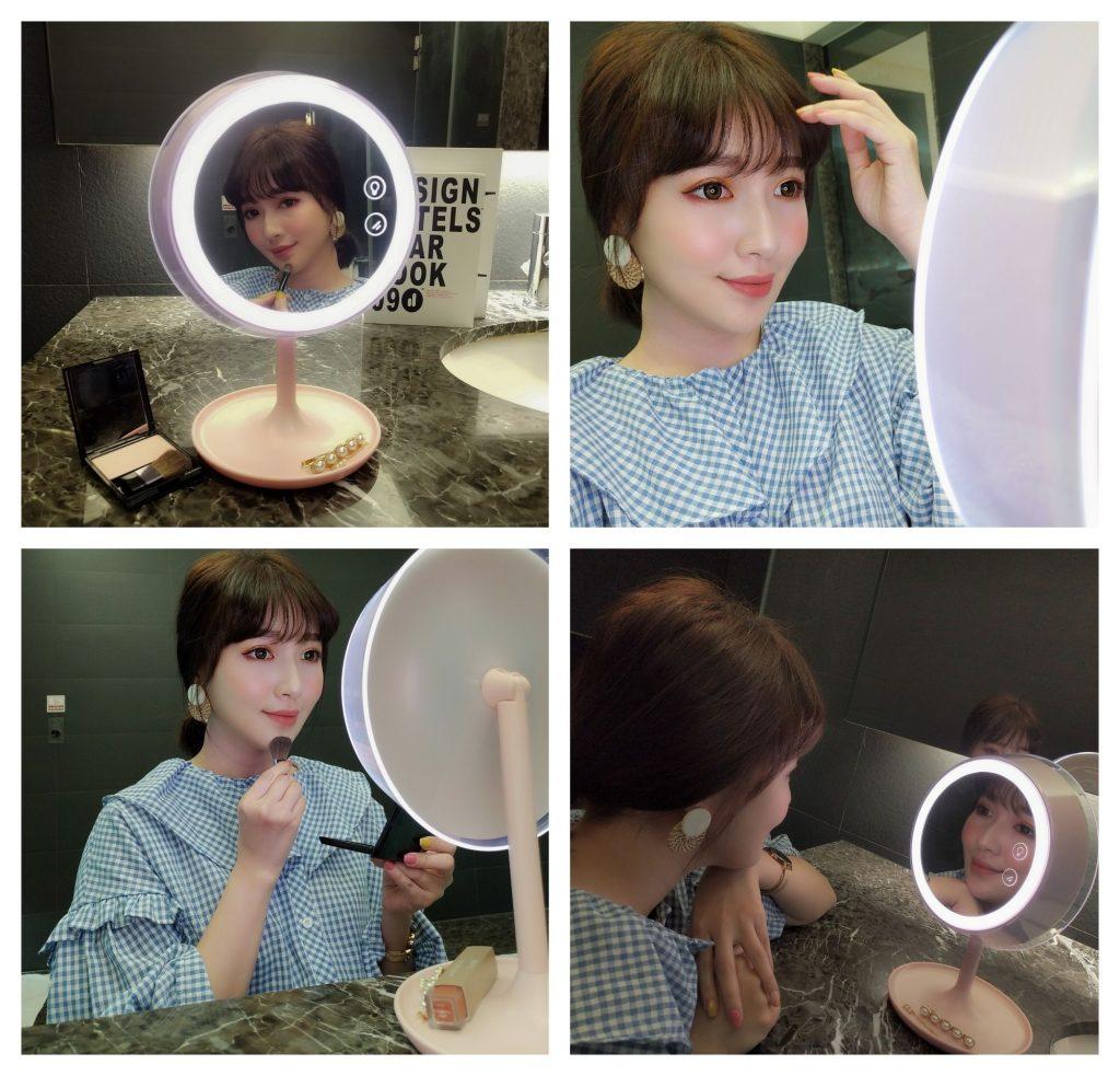 Ivy Chen • 陳心丨推薦:專業化妝+小夜燈+收納多功能化妝燈鏡推薦,爆炸實用 ❤️Midea美的美悠MIUO-T01化妝鏡檯燈