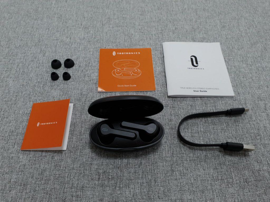 TaoTronics TT-BH053真無線藍牙耳機 內容物