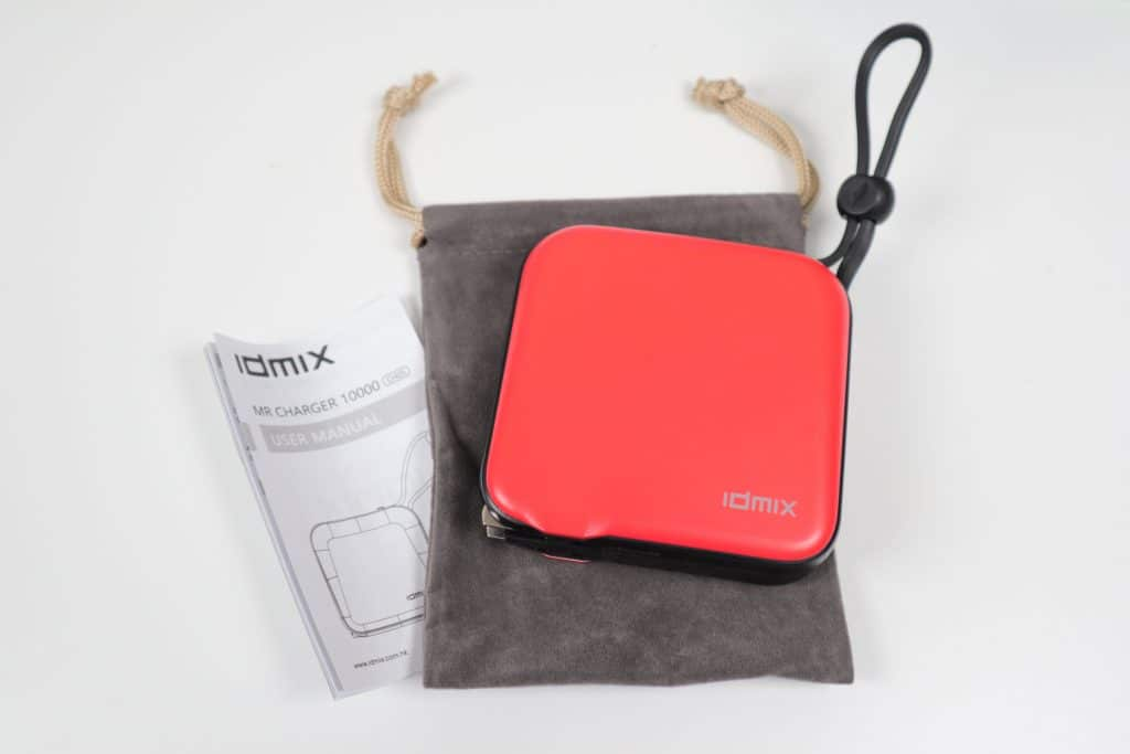 行動電源推薦內建充電線、變壓器 四合一idmix MR CHARGER 10000 (CH05) 多功能旅充行動電源